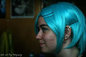 Blue Hair Piercings by BengalTiger4