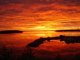 Finland sunrise summer 2007 by RickJuffermans87