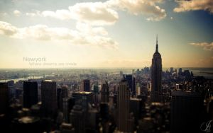 New york - Wallpaper by JamesDeanee