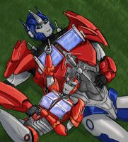 Optimus and Causeway by SoulRobot