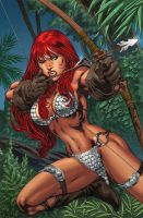Red-sonja-with-bow-and-arrow-photo-u1 by talha122