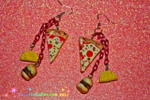 Junk Food Sculpey Miniatures Earrings by squeekaboo