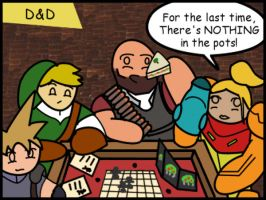 Video Game Stars Playing Board Games: D and D by The-Author-M