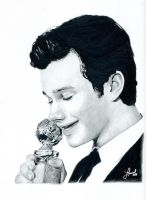 Chris Colfer's Golden Globe by laurelly25