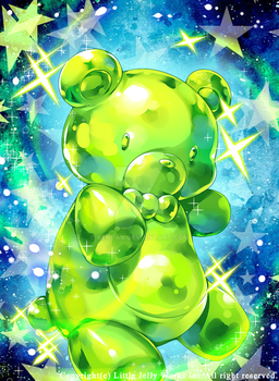 COMMISSION: The Green Gummy Bear by KenPan