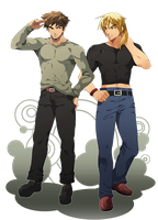 Ryu and Ken - New Look by mystery79