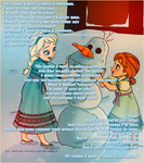 Of course I want to build a snowman. by darkrinoahatiri