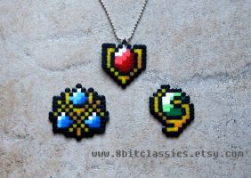 Legend of Zelda Spiritual Stones by littlemissysg