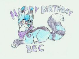 Happy Birthday Bec by ShidatheUmbreon