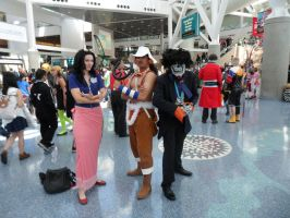 Anime Expo  The Archaeologist, Sniper and Musician by DelphiniumFleur