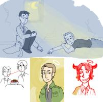 supernatural doodles by Floral-print-boots