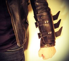 Leather Batman Bracer by swanboy