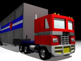 Optimus Prime Truck Mode Front by thequestionmark
