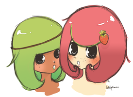 KIWI x STRAWBERRY by laitdepomme