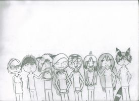 So far for group picture! by LucarMoonshadow12345