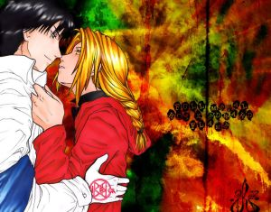 Full metal alchemist Roy_Mustang_x_Edward_Elric_by_Lurei