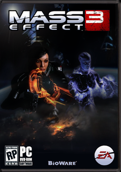 ME3:  FemShep and Liara Cover by jlb141