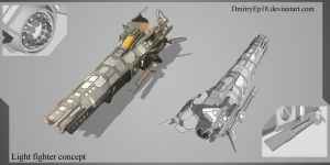 Light fighter concept by DmitryEp18