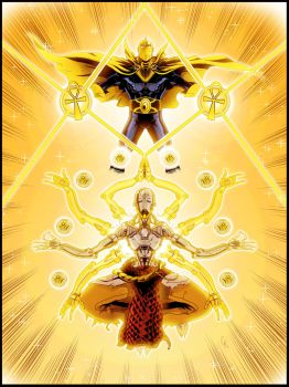 DC Overwatch - Dr. Fate and Zenyatta by TimelessUnknown