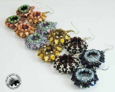 Studded Tires Earrings by GoodQuillHunting