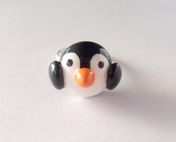 Cute Baby Penguin Ring by MariposaMiniatures