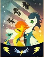 Cool Wonderbolts Poster by Cyndersky