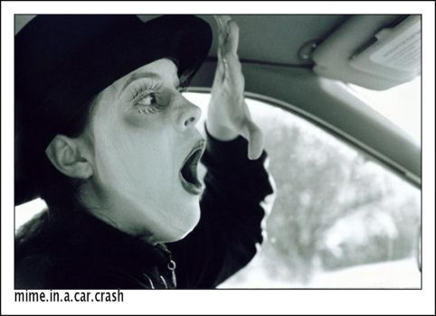 mime in a car crash by grimpuppetcitas
