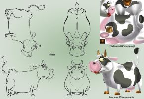 Design and textures - Cow by andretapol