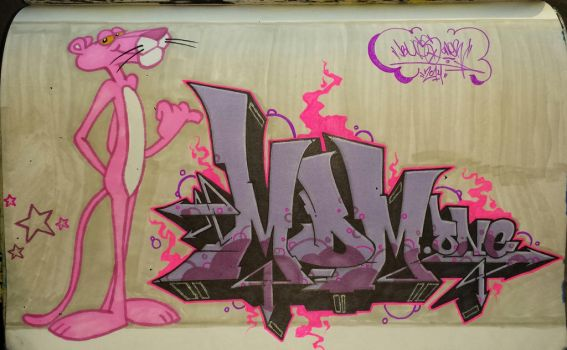 Pink Panther.  done. by bugs-one