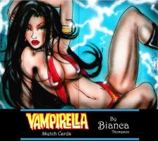 Vampirella Sketch Card by BiancaThompson