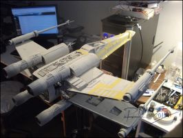 X-Wing revisited Painting process-01 by Hikaru84