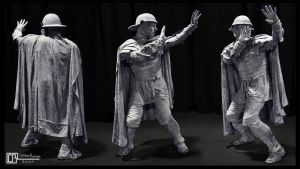 Life-Size Stone Roman by CB-FX