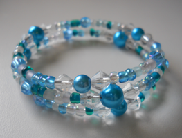 Blue Angel Bracelet by LypticDesigns