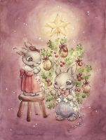 The Rabbit's Christmas Tree by DreamsOfALostSpirit