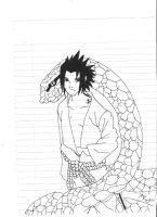 Sasuke and the Snake by skuad69