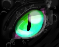 Toothless's eye by FoReal100