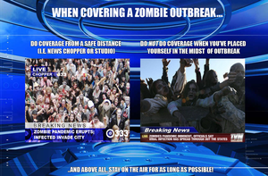 For Reporters: When Covering A Zombie Outbreak... by MrAngryDog