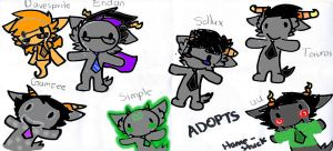 Homestuck Adopts by Mint66