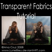 Transparent Fabrics Tutorial by Lune-Tutorials