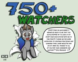 700+ Watchers, Thank You!! by Burning-Heart-Brony