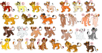 Lion Cub Adoptables 2 by KawaiiAdopts17