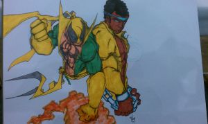 iron fist and luke cage by rebelstardeviantarts