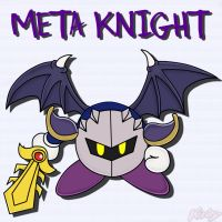 Meta Knight from Kirby by Waito-chan