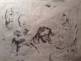 FF VS DD final pencil sketch by soliton
