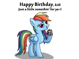 Happy Birthday from Rainbow Dash by Rambopvp