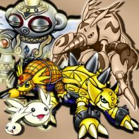 Armadillomon Evolution by xLady-Mizu