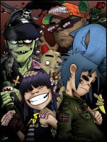 Gorillaz (+speedpainting) by Bulletproof-Eggs