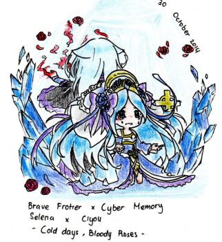 Brave Frontier x Cyber memory - ice by Virtous01