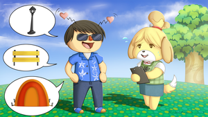 Animal Crossing Public Works by Masae