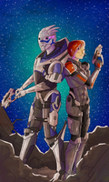 There's no Shepard without Vakarian by Fireflywaterfly